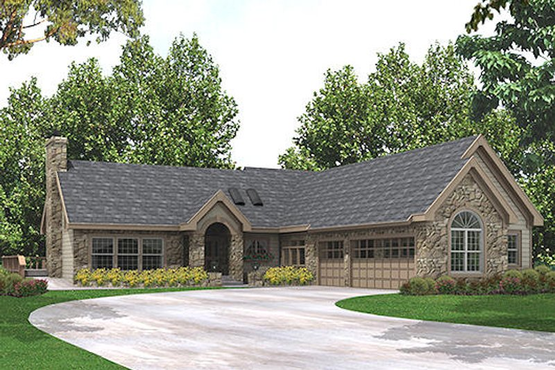 Home Plan Design - Craftsman Exterior - Front Elevation Plan #57-321