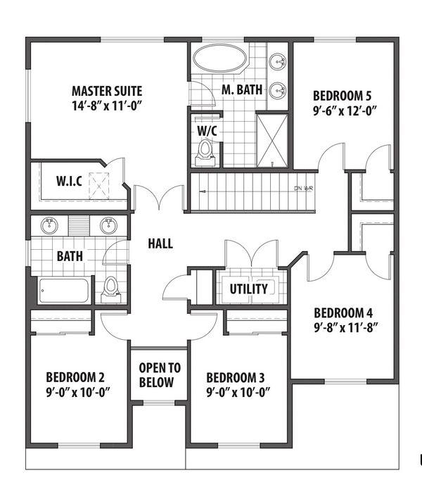 Country Floor Plan - Upper Floor Plan #569-34