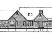 Home Plan - Traditional Exterior - Rear Elevation Plan #23-255