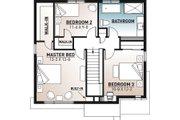Modern Style House Plan - 3 Beds 1.5 Baths 1680 Sq/Ft Plan #23-2702 Floor Plan - Upper Floor