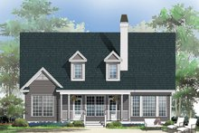 Country Exterior - Rear Elevation Plan #929-52