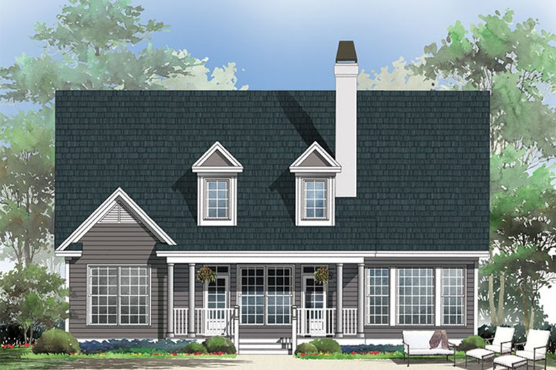 Country Exterior - Rear Elevation Plan #929-52 - Houseplans.com
