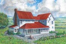 House Plan Design - Farmhouse Exterior - Rear Elevation Plan #485-4