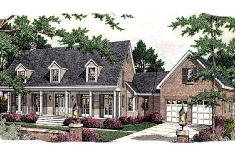 Southern Exterior - Front Elevation Plan #406-299 - Houseplans.com