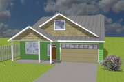 Ranch Style House Plan - 4 Beds 2 Baths 1500 Sq/Ft Plan #423-68 Exterior - Front Elevation