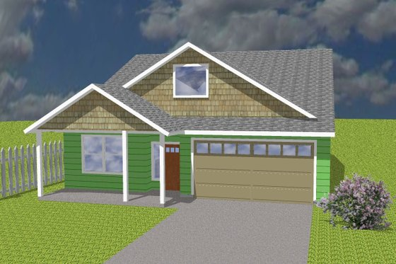Ranch Exterior - Front Elevation Plan #423-68