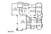 European Style House Plan - 8 Beds 5.5 Baths 8053 Sq/Ft Plan #920-61 Floor Plan - Main Floor