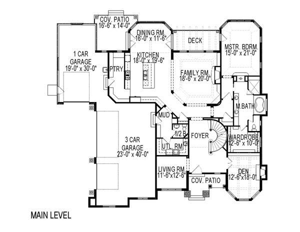 European Floor Plan - Main Floor Plan #920-61