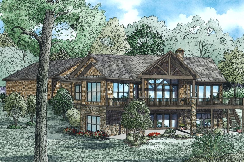 Craftsman Exterior - Other Elevation Plan #17-2518 - Houseplans.com
