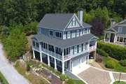 Southern Style House Plan - 3 Beds 3.5 Baths 3520 Sq/Ft Plan #437-57 Exterior - Front Elevation