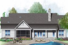 European Exterior - Rear Elevation Plan #929-1021