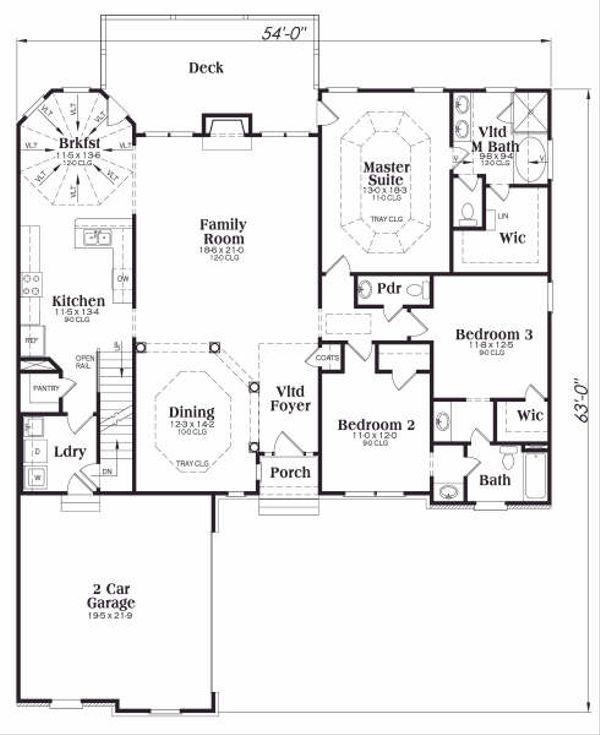 Traditional Floor Plan - Main Floor Plan Plan #419-164