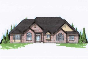 Traditional Exterior - Front Elevation Plan #5-324