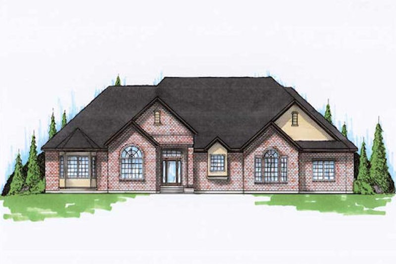 Home Plan - Traditional Exterior - Front Elevation Plan #5-324