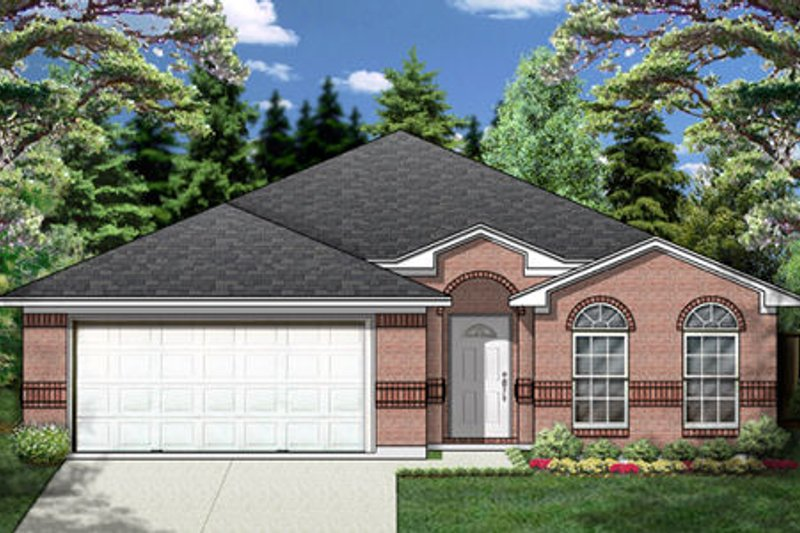 Traditional Style House Plan - 3 Beds 2 Baths 1654 Sq/Ft Plan #84-332 Exterior - Front Elevation