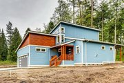 Contemporary Style House Plan - 3 Beds 2.5 Baths 2116 Sq/Ft Plan #1070-30 Exterior - Front Elevation