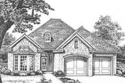 European Style House Plan - 3 Beds 2 Baths 1855 Sq/Ft Plan #310-423 Exterior - Front Elevation