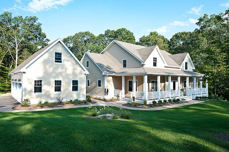 Architectural House Design - Front View - 3500 square foot Country Home