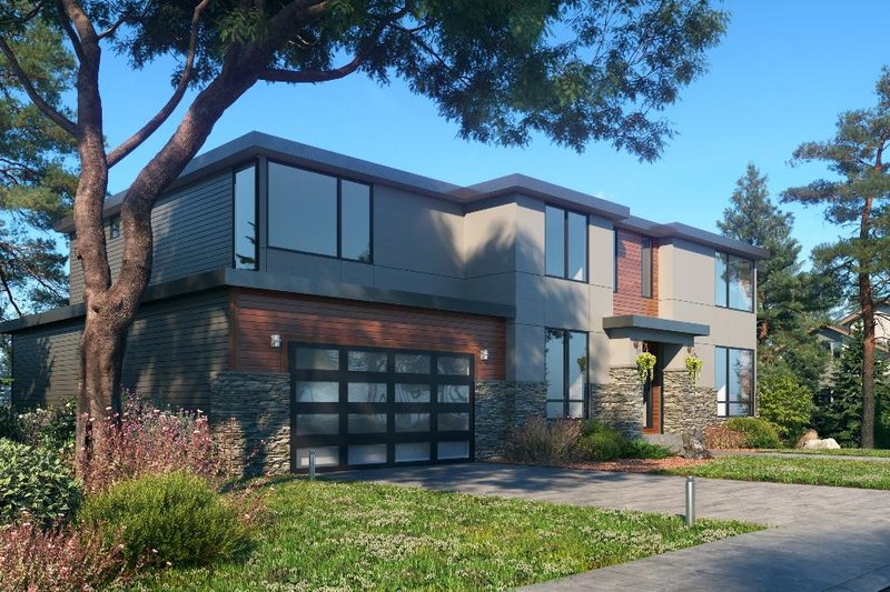 Architectural House Design - Contemporary Exterior - Other Elevation Plan #1066-128