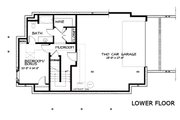 Craftsman Style House Plan - 4 Beds 3.5 Baths 2760 Sq/Ft Plan #434-5 Floor Plan - Lower Floor Plan