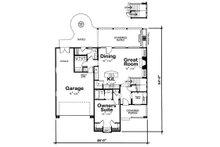 Country house plan design, main level floor plan