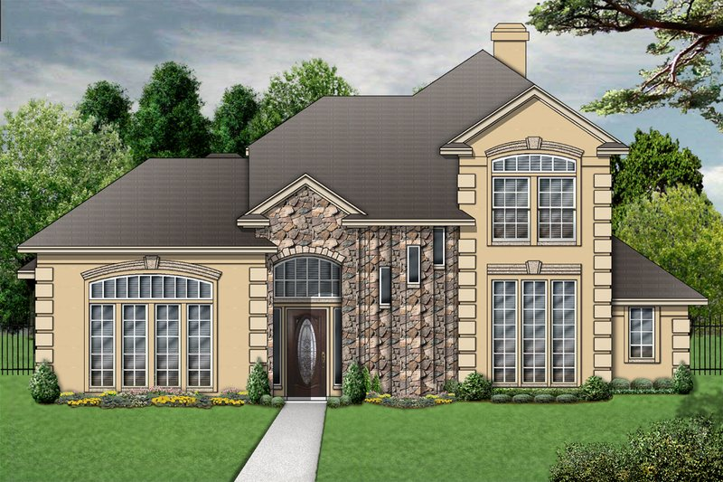 Mediterranean Exterior - Front Elevation Plan #84-396 - Houseplans.com