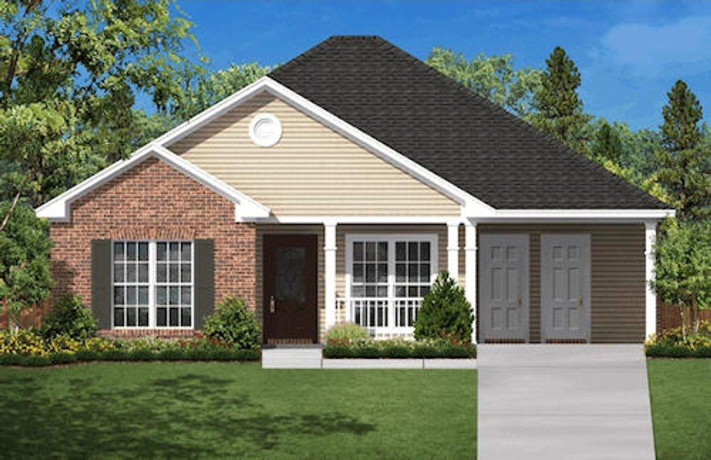 Country Style House Plan 3 Beds 2 Baths 1200 Sq Ft Plan 430 5 Eplans Com