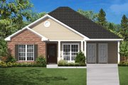 Country Style House Plan - 3 Beds 2 Baths 1200 Sq/Ft Plan #430-5