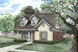 Traditional Exterior - Front Elevation Plan #17-1099