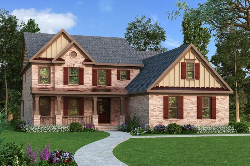 Traditional Exterior - Front Elevation Plan #419-154 - Houseplans.com