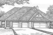 European Style House Plan - 2 Beds 2 Baths 2596 Sq/Ft Plan #310-444 Exterior - Front Elevation