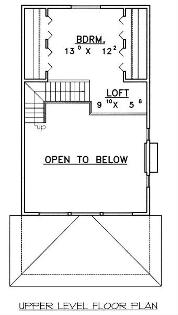 Bungalow Floor Plan - Upper Floor Plan Plan #117-543