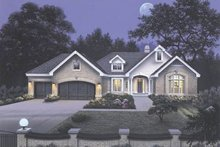 House Design - Traditional Exterior - Front Elevation Plan #57-129