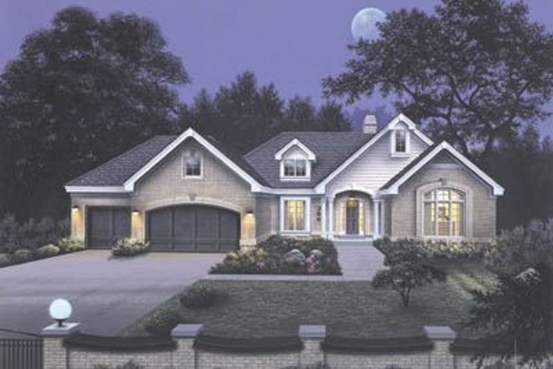 Traditional Exterior - Front Elevation Plan #57-129 - Houseplans.com