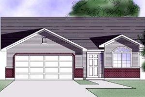 Country Exterior - Front Elevation Plan #5-105