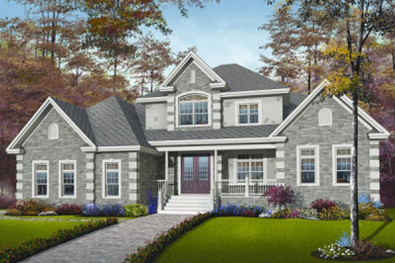 Dream House Plan - European Exterior - Front Elevation Plan #23-829
