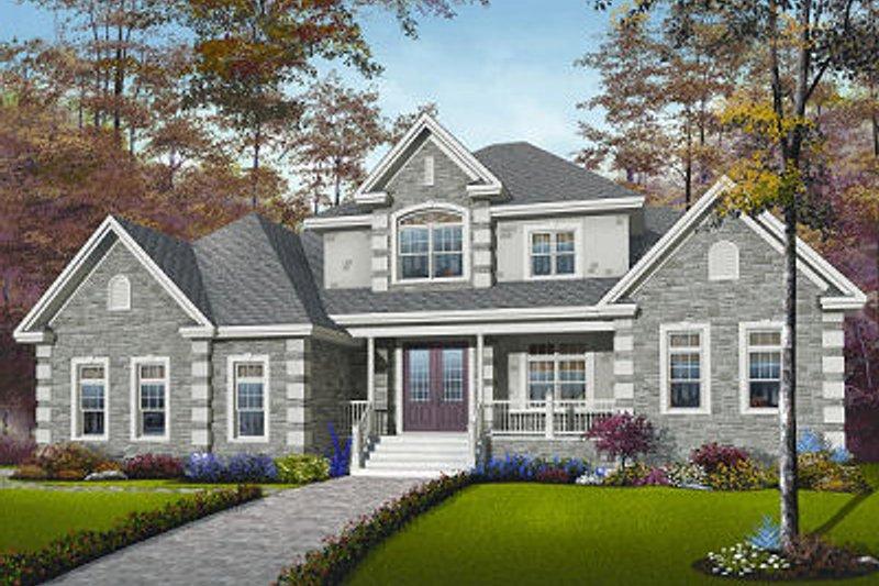 Dream House Plan - European Exterior - Front Elevation Plan #23-829