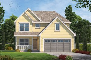 Architectural House Design - Country Exterior - Front Elevation Plan #20-2258