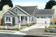Cottage Style House Plan - 3 Beds 2 Baths 1420 Sq/Ft Plan #513-2091