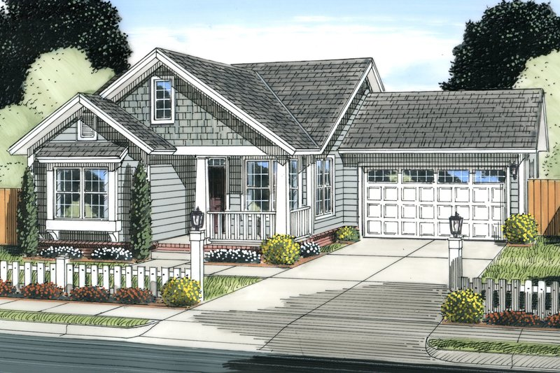 Cottage Exterior - Front Elevation Plan #513-2091 - Houseplans.com
