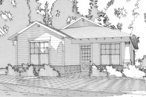 Bungalow Exterior - Front Elevation Plan #63-294