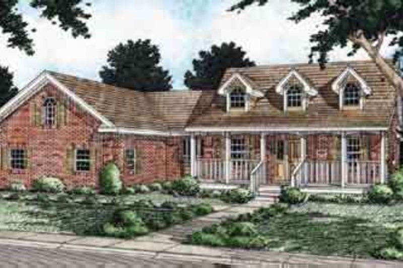 Traditional Exterior - Front Elevation Plan #126-127 - Houseplans.com