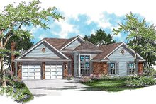 Home Plan - Traditional Exterior - Front Elevation Plan #48-418