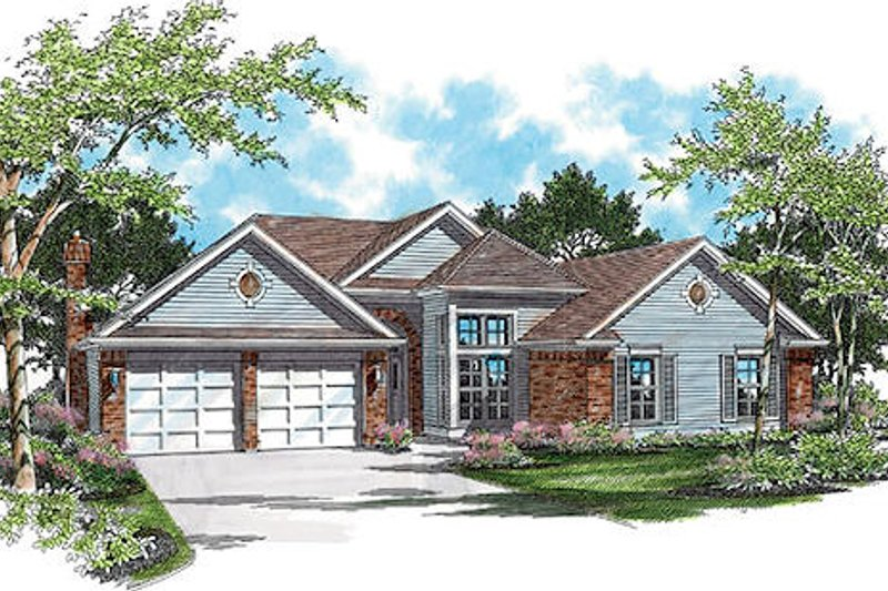 Traditional Exterior - Front Elevation Plan #48-418