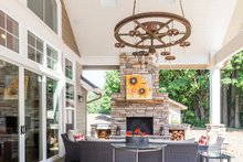Craftsman style home, covered patio photo
