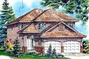 Traditional Style House Plan - 3 Beds 3 Baths 1651 Sq/Ft Plan #18-283 Exterior - Front Elevation
