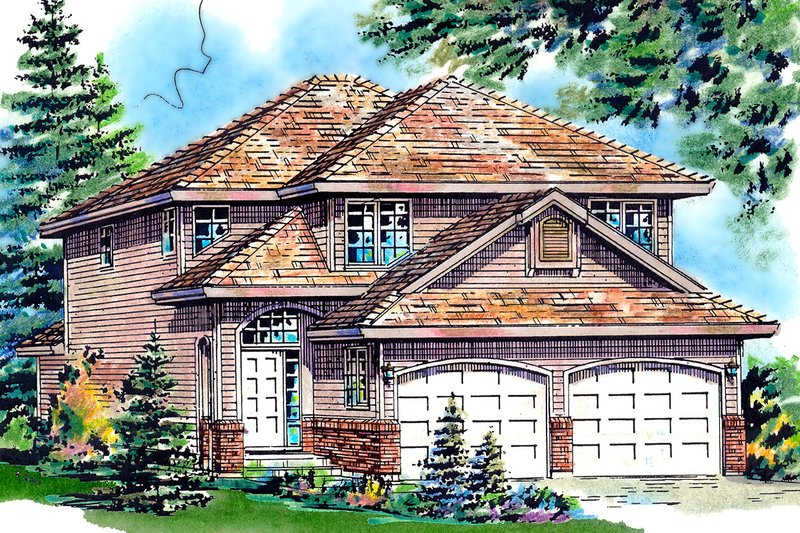 Architectural House Design - Traditional Exterior - Front Elevation Plan #18-283