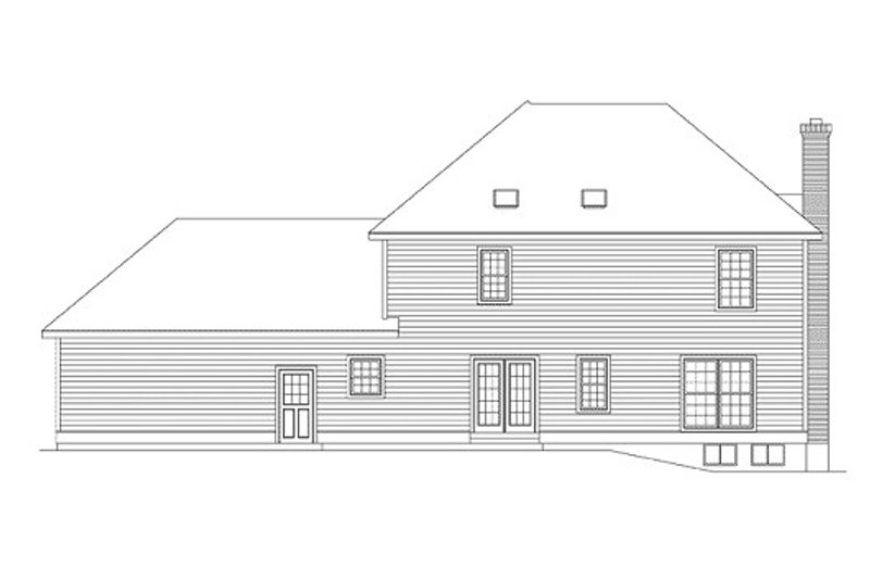 Colonial Exterior - Rear Elevation Plan #57-265 - Houseplans.com