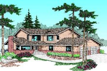 Architectural House Design - Traditional Exterior - Front Elevation Plan #60-184