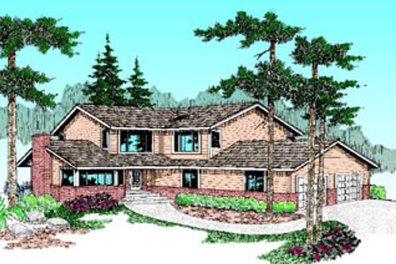 Traditional Exterior - Front Elevation Plan #60-184 - Houseplans.com
